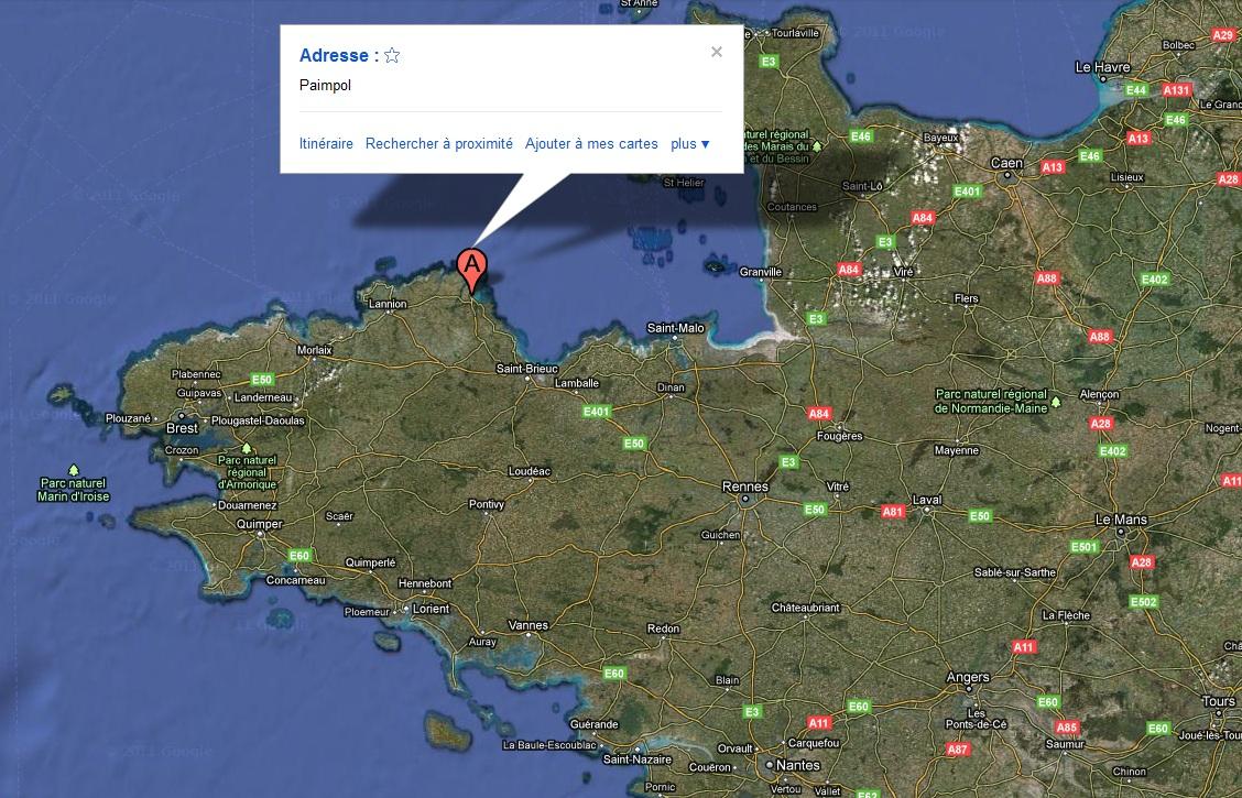 paimpol google map