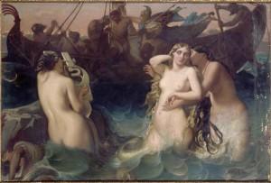 Victor Mottez - Ulysse et les Sirènes -avant 1848