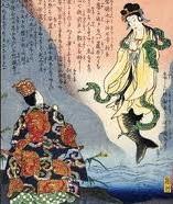 Gravure de sirène au Japon