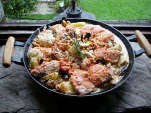 saumon-roti-encornets-creme-de-chorizo