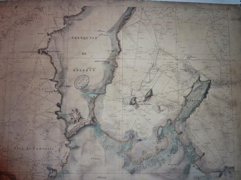 Carte de la presqu'île de Quelern Beautemps-Beaupr é 1817