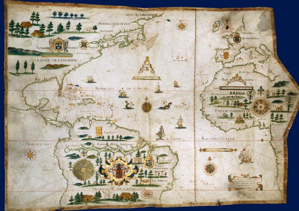 La France et le nouveau monde Pierre de Vaulx, 1613 (BNF)