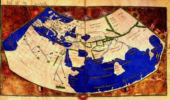 Le monde de Ptolémée Copie exécutée vers 1450 par Giovanni Roso