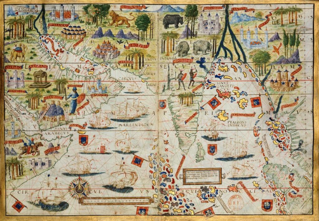 Océan indien nord Lopo Homen 1519 (BNF)
