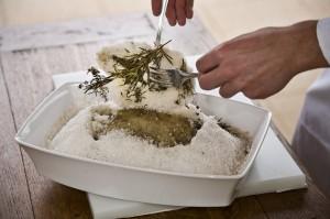 poisson en croute de sel