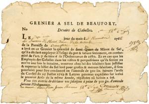 Gabelle - Source : Dictionnaire des institutions de la France. XVIIe-XVIIIe siècles
