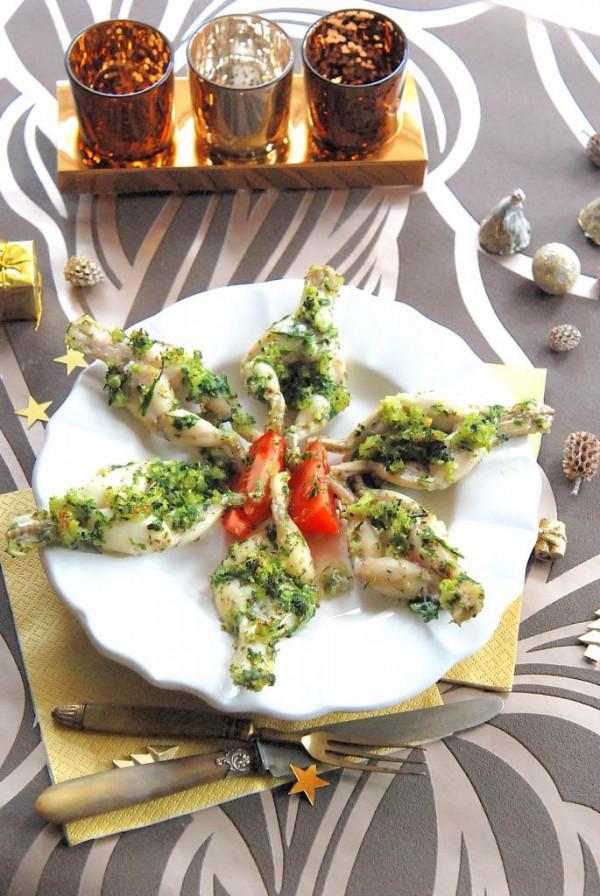 cuisses de grenouilles panées aux herbes