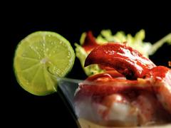 Verrines de homard et de tomates